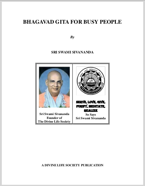 Bhagavad Gita For Busy People  Sri Swami Sivananda