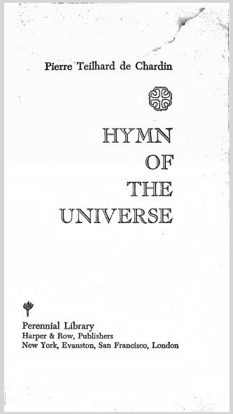 HymnOfTheUniversePierreTeilhardDeChardin.jpg