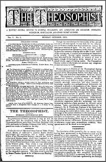 The Theosophist Vol 1 No 1 October 1879