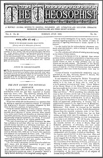 The Theosophist Vol 3 No 34 July 1882
