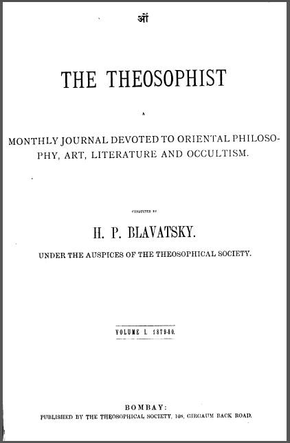 The Theosophist Volume 1 Index