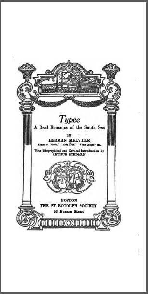 Typee: A Real Romance of the South Seas Herman Melville