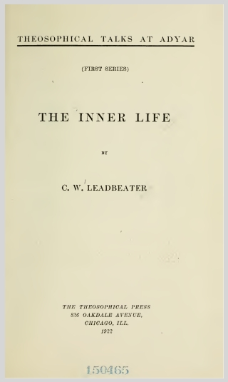 The Inner Life (1922) C.W.Leadbeater