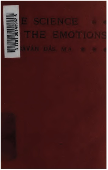 The Science Of The Emotions (1908) Bhagavan Das Scanned Version
